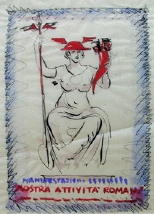 - Boceto de afiche: Roma
