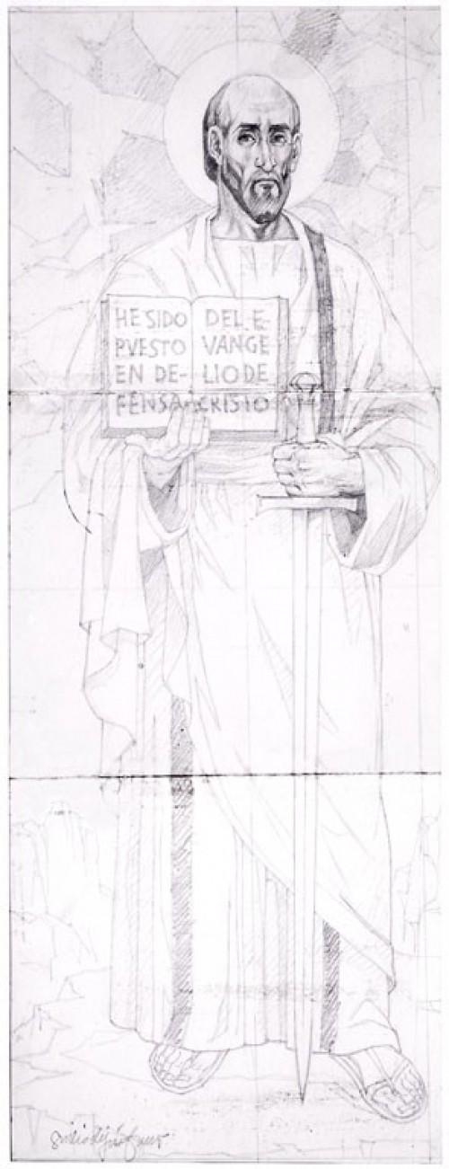 - San Pablo, para Mosaico Catedral Linares