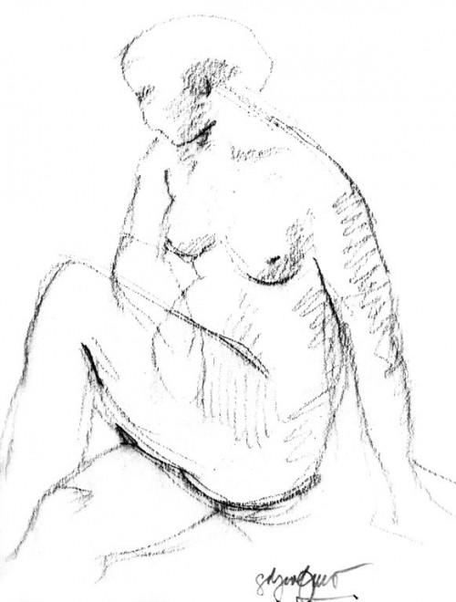 - Estudio de desnudo femenino