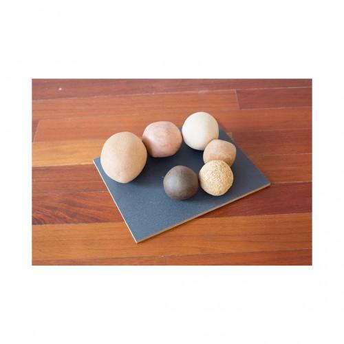 Gabriela Salazar - Eye of Palm: 1 tile, 6 rocks