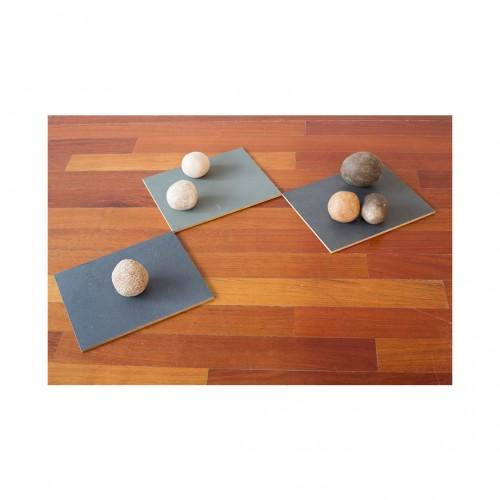 Gabriela Salazar - Eye of Palm: 3 tiles, 6 rocks