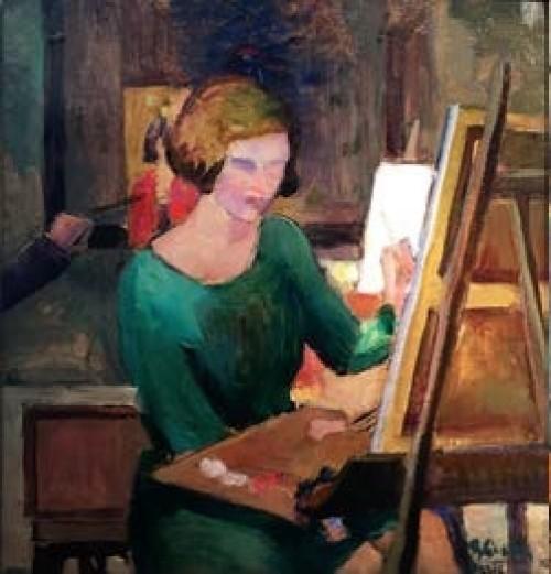 - Clase de pintura en París