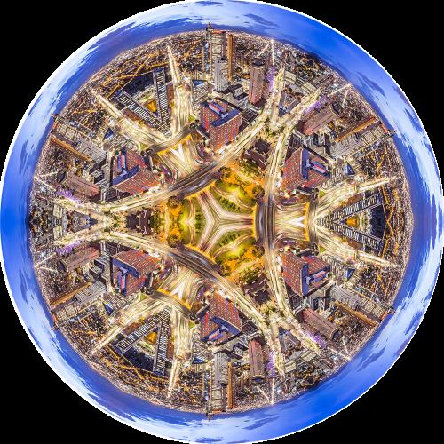 - Bogotá Golden Blue Mandala (Torre Colpatria)