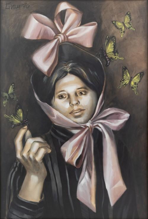 - Mujer con mariposas