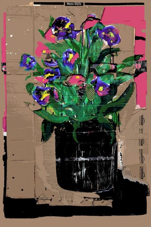 - Flores Moradas