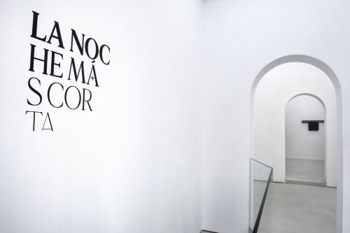 """- Installation view   Aural Madrid """"La noche más corta"""""""
